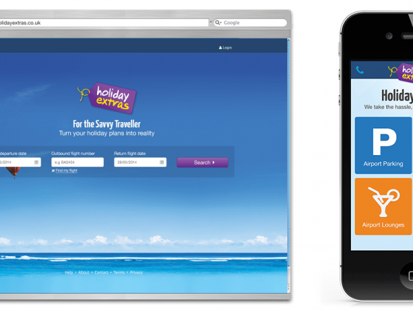 Holiday Extras Web Page and App Concepts