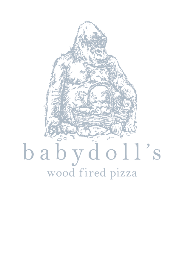 The final logo - Babydoll sketch with wording in place