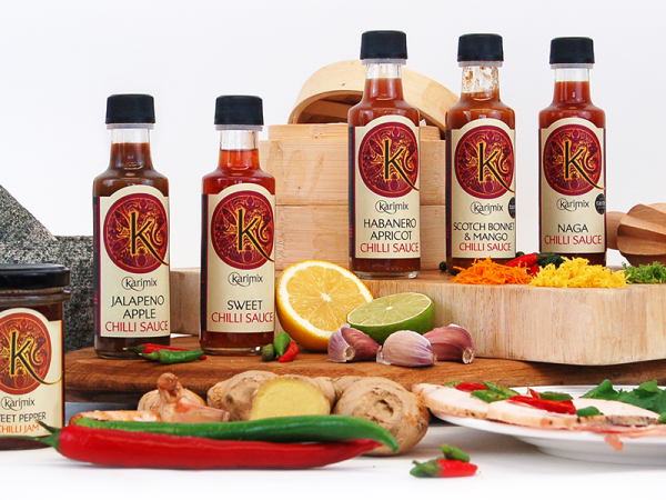 Karimix Chilli Sauce Jars Design