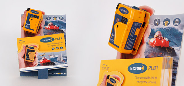 Personal Locator Beacon A6 brochure holder.
