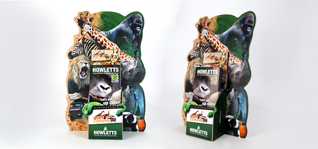 Port Lympne and Howletts DL leaflet holder