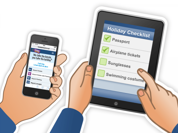 Holiday Extras iPad and iPhone Illustrations