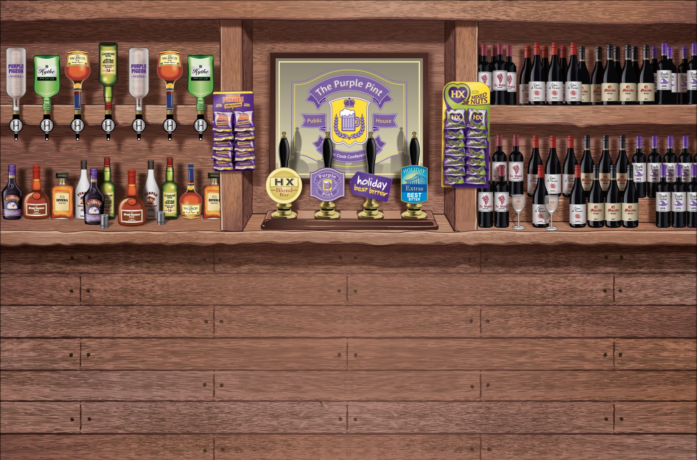 Exhibition Stand Extras : Creative exhibition stand design the purple pint oak creative