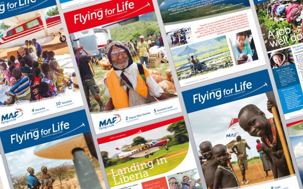 Flying for Life magazine Design