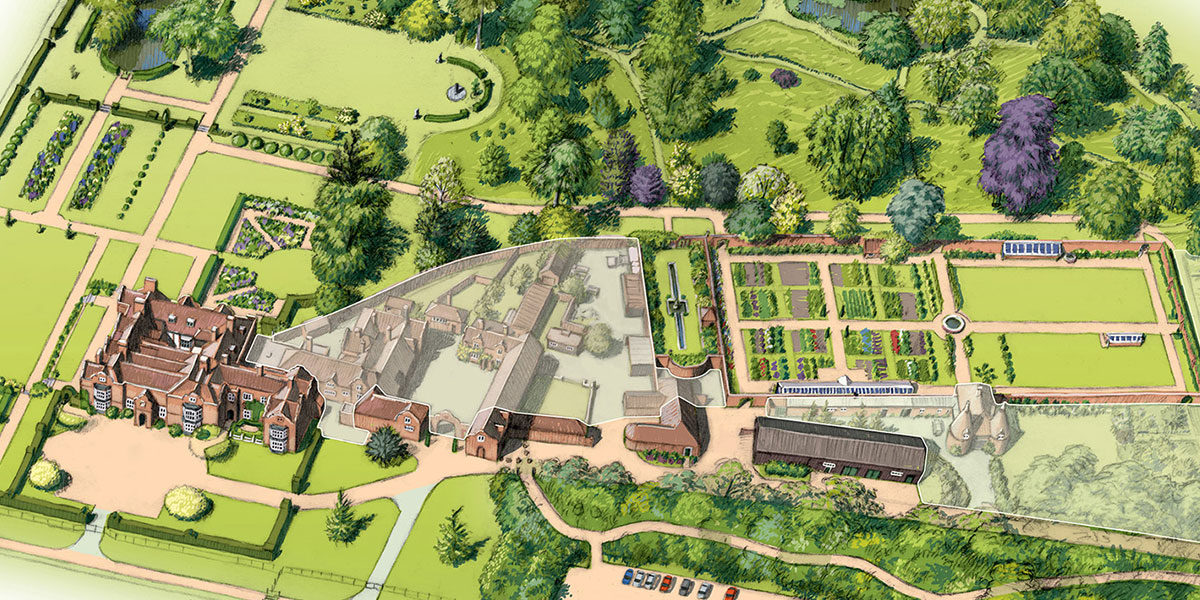 Godinton House and Gardens illustration