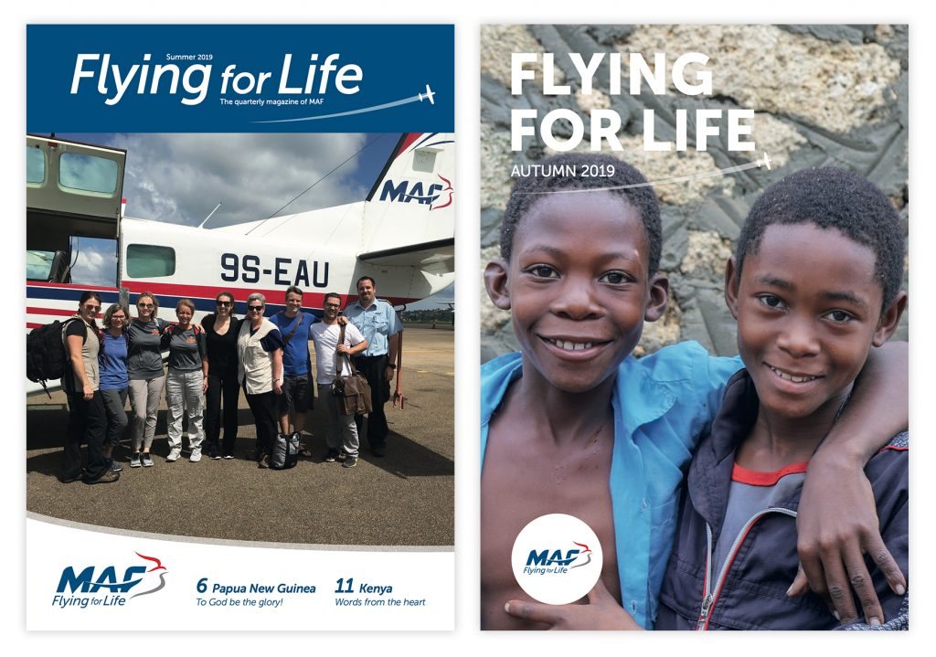 MAF UK Flying For Life Front Covers